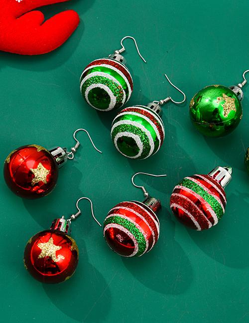 Aleación De Aceite De Goteo Sombrero De Navidad De Navidad Y Pendientes De Bota De Navidad