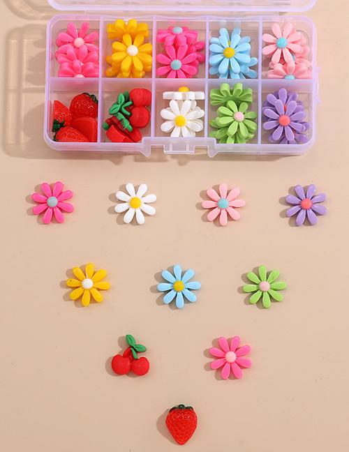 Caja De Material De Bricolaje De Girasol De Fruta De 10 Rejillas