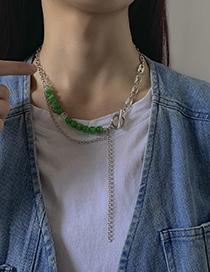 Collar De Cadena Con Cuentas Y Hebilla Ot De Metal