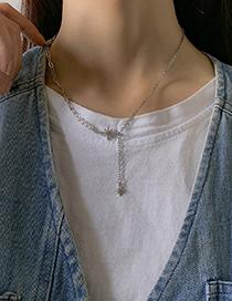 Collar De Perlas Estrella De Seis Puntas Con Diamantes