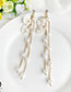 Fashion White Alloy Pearl Shell Earrings