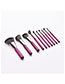 Fashion Purple Color 10 Stick Makeup Brush