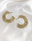 Fashion Color Alloy Diamond Large Round Earrings