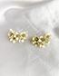 Fashion Creamy-white Alloy Flower Earrings