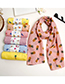Lovely Yellow Bird Pattern Decorated Child Scarf(1-12 Years Old)