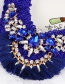 Fashion Sapphire Blue Tassel Decorated Necklace