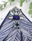 Fashion Light Green Geomtric Shape Diamond Decorated Bowknot Brooch