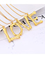 Fashion Gold Color Letter Z Pendant Decorated Necklace