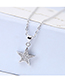 Elegant Silver Color Star Shape Decorated Necklace