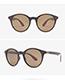 Fashion Light Brown Round Shape Design Polarizing Glasses