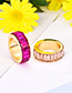 Fashion Rose Red Alloy Diamond Ring