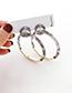 Fashion Light Color Alloy Resin Circle Earrings