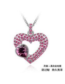 Digital Purple Heart Xiang Xi Crystal Crystal Necklaces