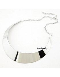 Attractive Silver Color Shiny Side Charm Design