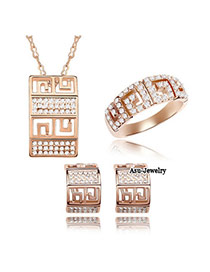 Baroque Gold Color Set-Fairy Tale Of Love Alloy Crystal Sets