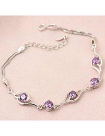 Catholic Purple Sweet Design Zircon Fashion Bracelets