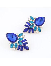 Limited Navy Blue Elegant Shining Jewel Design