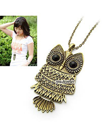 Collar Bronze Owl Alloy Pendants