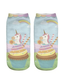 Calcetines Decorados Patrón Unicornio