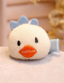Lovely Beige Duck Shape Decorated Hair Clip