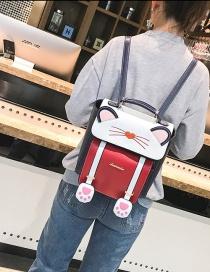 Mochila Decorada Con Gato De Moda
