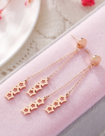 Fashion Gold Color Hollow Out Round Shape Decorated Color Matching Jewelry Sets (3pcs)