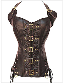 Sexy Coffee Off-the-shoulder Design Corset