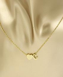 Collar De Corazón Con Letra C