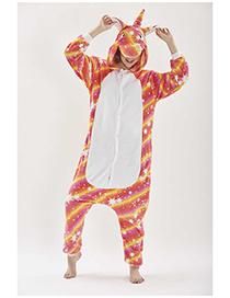 Pijama De Unicornio A Rayas Coloridas Con Estrellas