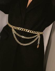 Cadena De Cintura Múlticapa De Moda