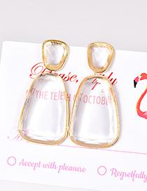 Fashion Transparent Alloy Resin Geometry Earrings