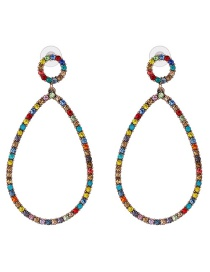 Fashion Color Glass Drill Earrings