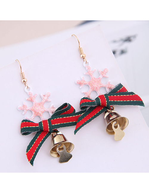 Pendientes Snowflake Bow Bell Christmas Series