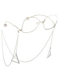 Cadena De Gafas Triangulares Antideslizantes De Diamantes De Imitación Transparentes