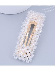 Horquilla Rectangular De Perlas De Cristal
