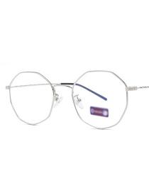 Marco Plano De Gafas Irregulares Anti-azul Espejo Plano
