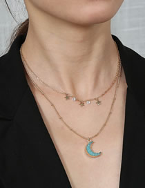 Collar Doble De Cadena Moon Moon Little Resina
