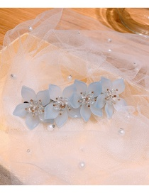 Diadema De Flor De Cristal De Flor De Durazno