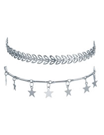 Conjunto De Tobillera Doble Arrow Star