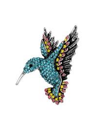 Broche De Aleación De Pájaro Con Diamantes