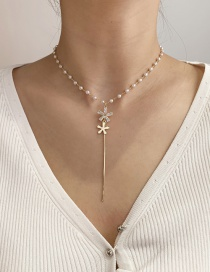Collar Y Flor De Circonitas Perlas