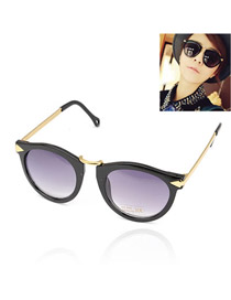 Goth With Black Frame Fashion Arrows Design Resin Women Sunglasses