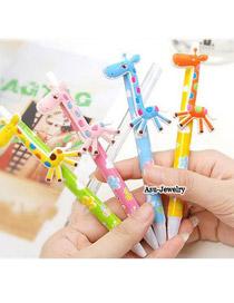 Harry Color will be random Cartoon Deerlet Design Plastic Writing Pens