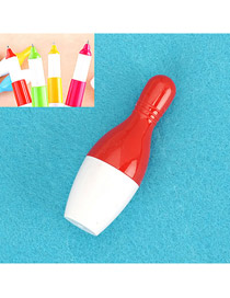 Acrylic Red Bowling Shape Design