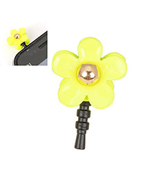 Musical Yellow Flower Design Alloy Mobile phone products