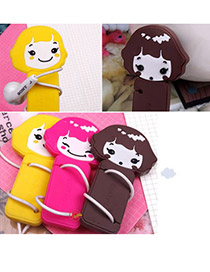 Flamenco Color will be random Lovely Cookie Girl  Design Rubber Cord Fixer