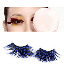 Gorgeous Blue Personality Design PU Eyelash Eye Paste