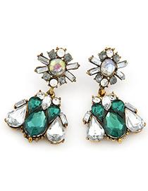 Charm dark green diamond decorated waterdrop shape design