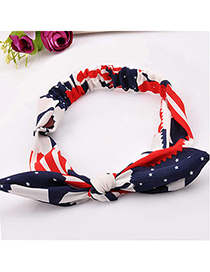 lucky Red Star Pattern Decorated Bowknot Design