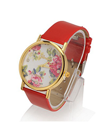 Expired Red Rose Pattern Round Shape Design